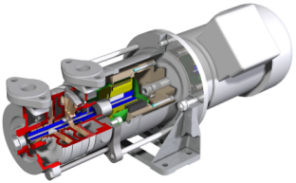 Side Channel Pump - magnetically driven in block design (Photo: Sero PumpSystems GmbH)