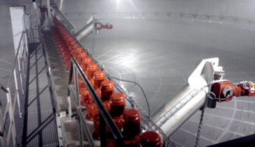 The process involves forcing water at high pressure through nozzles attached to the slowly rotating machinery to remove matter attached to the malting floor and the vessel's walls. (Image: Cat Pumps)