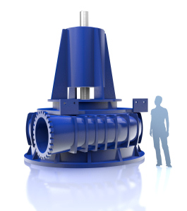 Drawing of one of the four waste water pumps for the London Lee Tunnel project. (Image: KSB)