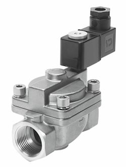 Solenoid valve VZWP: for use with high pressures. (Photo: Festo)<br>