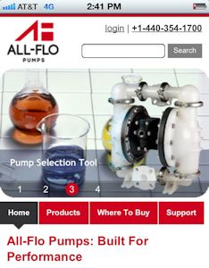 New All-Flo mobile website (Image: All-Flo)
