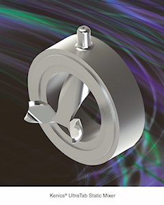 Kenics UltraTab Static Mixer for Turbulent Flow Applications (Image: Chemineer)