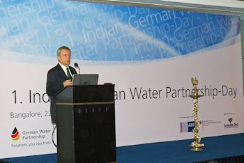 Jörn Rohde, German Consul General in Bangalore, also spoke about the region's infrastructural problems in water management at the 1st Indian-GWP Day (Image: GWP)
