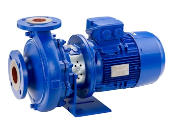 The latest generation of the Etabloc type series meets the EU requirements of Commission Regulation 547/2012/EU for water pumps, which will enter into force in 2015. (KSB Aktiengesellschaft, Frankenthal, Germany)