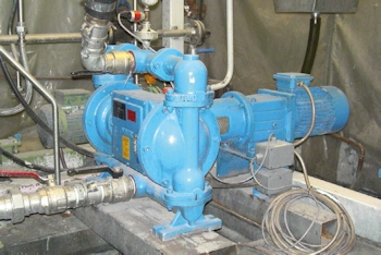 Electromechanical diaphragm pump, Type EM-040Z0300-SG for<br>glue circulation (Image: Abel Pumps)