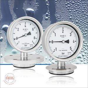 The Afriso stainless steel diaphragm pressure gauges PF100CP and PF160CP can be used instead of chemical seals if the filling liquid contained in chemical seals is unwanted for some reason. (Photograph: Afriso)