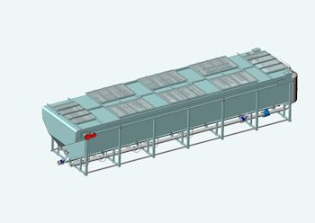 Cayuga's completely enclosed SUPERFLOT-BIOGAS™ system for high efficiency removal of anaerobic biomass (Image: GWE)