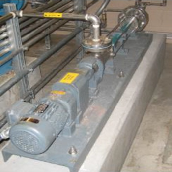 A Netzsch Lubrication Pump installed in a company in the US.