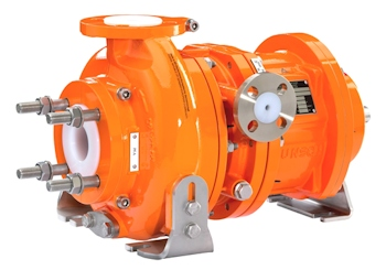 The magnetic pump of the CM type can be equipped either with a purge connection or a thermal sensing Connection (Image: Munsch Chemie-Pumpen GmbH)