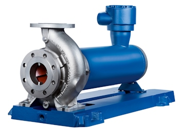 KSB will present its new Ecochem Non-Seal canned motor pump type series at Achema 2015 for the first time. (Picutre: KSB Aktiengesellschaft)