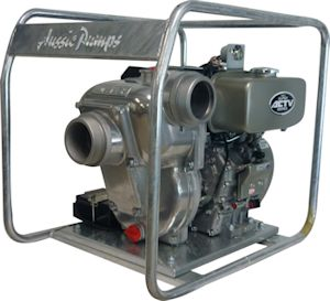 "Aussie Pumps 3"" & 4"" Kubota diesel powered pumps are engine match tested to ensure performance and smooth running even under load. (Image: Aussie Pumps)"