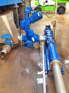 NOV has provided a pair of Mono™ progressing cavity pumps which are now helping to manage some 12,000 tonnes of material each year, including 7,500 tonnes of food waste, at a major waste recycling plant in Weston-super-Mare. (Image: NOV)