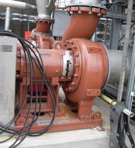 Vaughan Chopper pump positioned in pipework (Image: System Mix Ltd)
