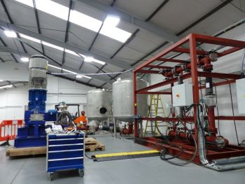 New reciprocating plunger pump test rig at Ruhrpumpen, United Kingdom (Ruhrpumpen)