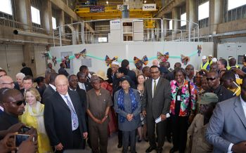 Liberia s President Ellen Johnson Sirleaf celebrated the startup of the first turbine-generator unit of the Mount Coffee hydropower plant(Image: Voith GmbH)