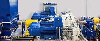 The new VECO-Drive is an innovative solution combining a mechanical planetary gear with frequency controlled servo motors. (Image: Voith)