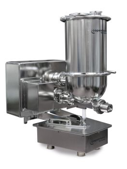 Coperion K-Tron's new QT20 pharmaceutical feeder with a redesigned trapezoid scale shape and significantly smaller footprint is optimized for multi-feeder clusters around a process inlet.(Image: Coperion K-Tron)