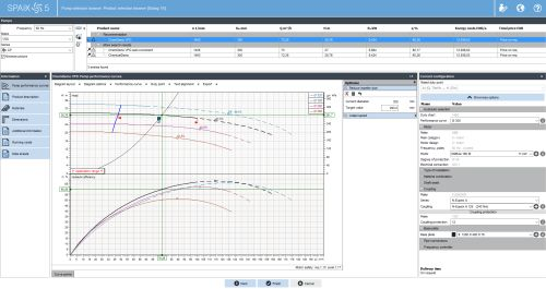 Pump selection and configuration (Image: VSX – VOGEL SOFTWARE GmbH)
