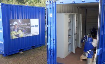 Sorgenfrei-Container von Sulzer für Baustellen