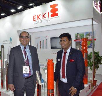 Honorary Consulate General of India to the United Arab Emirates Mr.Vipul along with Mr.Kanishka Arumugam, Director of EKKI unveiled the 6CC Series for the West Asian Markets at Big 5 Show in World Trade Centre Dubai (Image: Ekki Group)