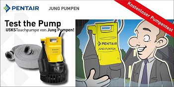 Test the Pump Kampagne von Pentair Jung Pumpen. (Foto: Jung Pumpen)