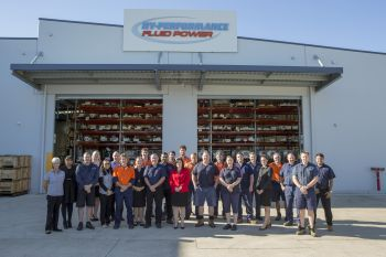 The team at Hy-Performance Fluid Power (Image: Atlas Copco)