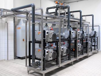 Centralized vacuum system with efficient, demand-driven control system from Busch (Image: Busch Vacuum Pumps and Systems)