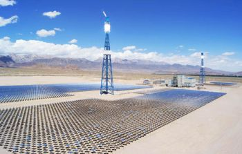 Auma supplies 10,000 gearboxes for the Supcon Delingha concentrated solar power plant in China (Image: Auma)