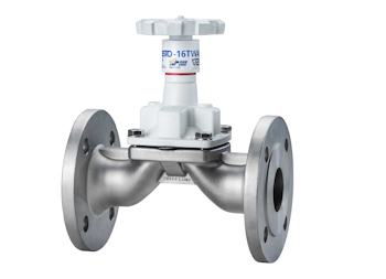 SISTO-16TWA stainless steel diaphragm valve for drinking water applications (Image: KSB SE & Co. KGaA)
