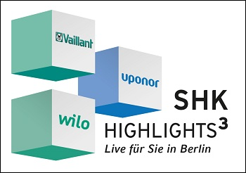 SHK Highlights<small><sup>3</sup></small> – Live für Sie vor Ort (Foto: Uponor, Vaillant, Wilo)
