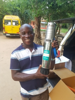 In Kissi, the new Wilo-Actun Opti pump will be used to supply running water for the vegetable garden, among other things. (Image: Baobab Children Foundation)