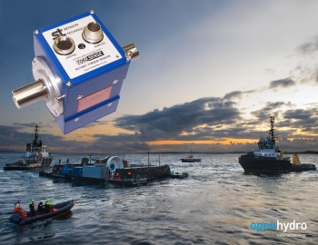 Non-contact torque sensors from Sensor Technology are playing a key role in the development of commercial-scale in-stream tidal turbines produced by Irish company, OpenHydro. (Image: Sensor Technology)