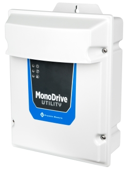 Franklin Electric now offers the new MonoDrive Utility Variable Frequency Drive to provide an easy-to-install 3-wire constant pressure solution for 230 V submersible pumping systems up to 2 hp. (Image: Franklin Electric)