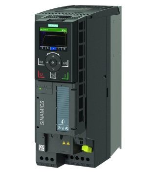 Sinamics G120X, frame size FSB, IP 20 with Sinamics Intelligent Operator Panel IOP-2 (Image: Siemens)