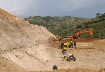 Work site at Kabu 16, Cibitoke province in the northwest of Burundi, East Africa. (Image: Voith)
