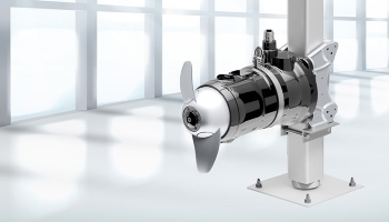Resistant to fibrous elements: submersible motor agitator with optimised propeller hub to minimise dead flow zones and prevent clogging (Image: HOMA Pumpenfabrik GmbH)