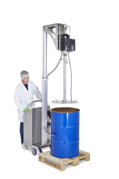 The new drum emptying system with follower plate (Image: Lutz Pumpen GmbH)