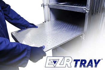 EZR Tray Air Strippers are sliding tray, stainless steel air strippers used to remove volatile organic compounds (VOC) from groundwater. (Image: Q.E.D. Environmental Systems, Inc.)