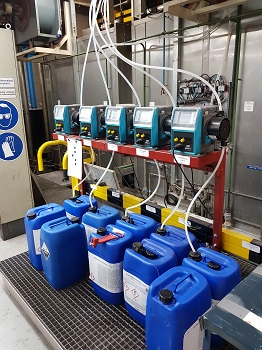 Qdos pumps replace diaphragm pumps in paint shop chemical metering application. (Image: Watson-Marlow Fluid Technology Group)