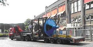 Pump leaving Flowserve's Hengelo facility