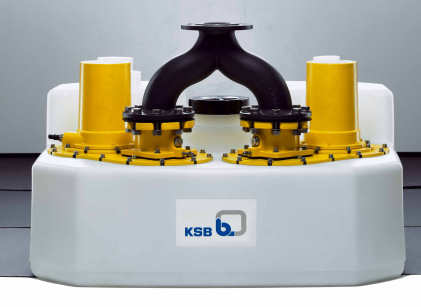 The eye-catcher at KSB's SHK and IFH trade fair stand is the latest generation of its Compacta floodable sewage lifting units.
