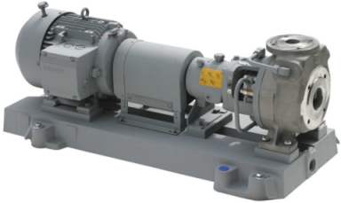 Example of the CPKN-Hs type series built at KSB s Pegnitz factory similar to the ones to be used at the new plastics factory at the industrial park of Höchst near Frankfurt/Main, Germany.