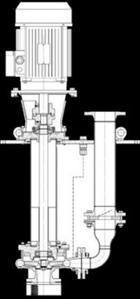 Vertical, Volute-Casing Centrifugal Pump for Oil Tanks