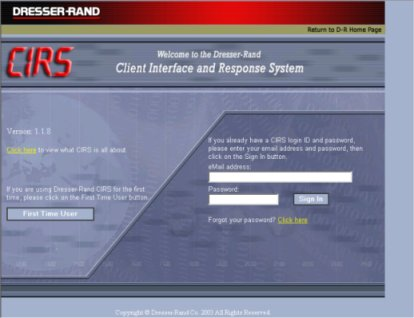 Dresser Rand Introduces Client Interface and Response System