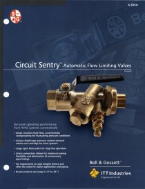 New Literature for Circuit Sentry Automatic Flow Limiting Valve