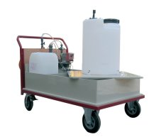 Mobile Dosing Station for Liquid Disinfectants