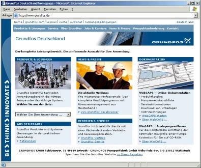 Direkter Zugriff auf Grundfos' deutsche Website