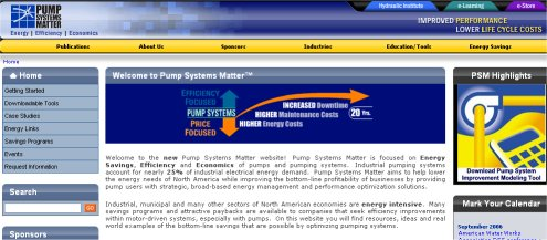 Pump Systems Matter Website Launched