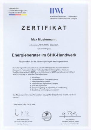 Zusatzqualifikation Energieberatung