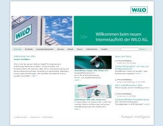 Wilo mit neuem Web-Auftritt